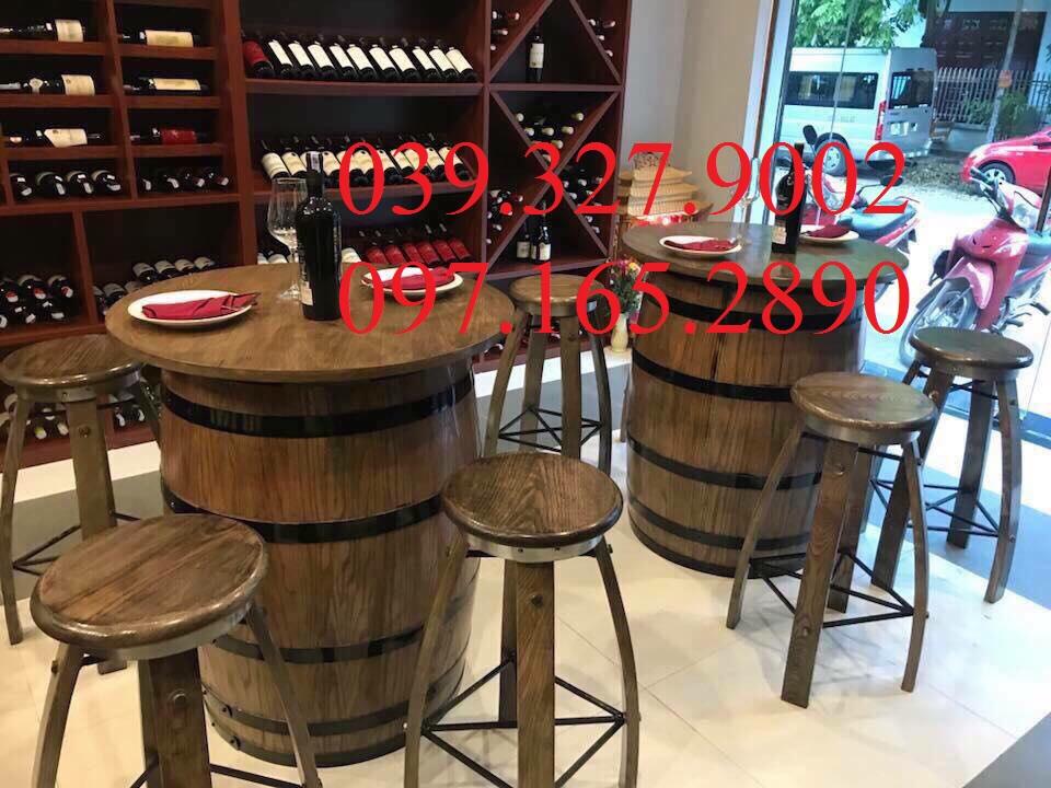 Bàn ghế decor quán bar, cửa hàng rượu