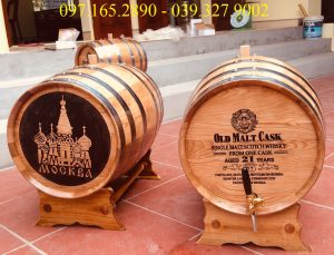 Thùng rượu gỗ sồi 50L cao cấp