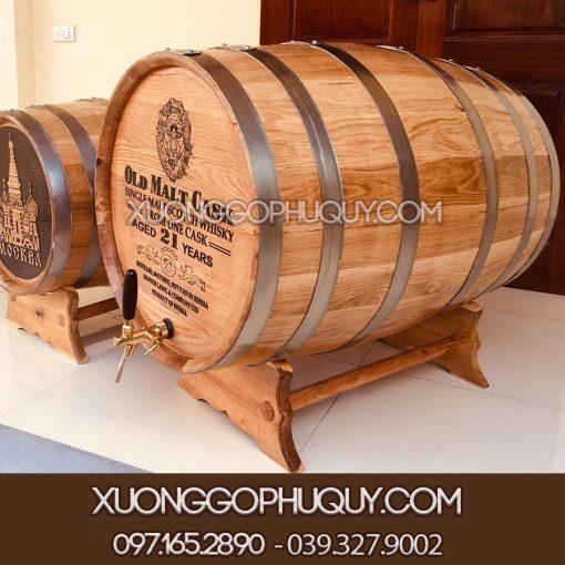Thùng rượu gỗ sồi 300L cao cấp