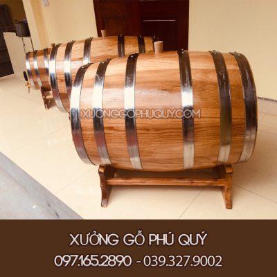 thùng rượu gỗ sồi 100L cao cấp