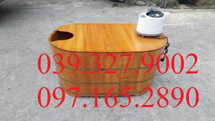 Bồn tắm gỗ thông có nắp