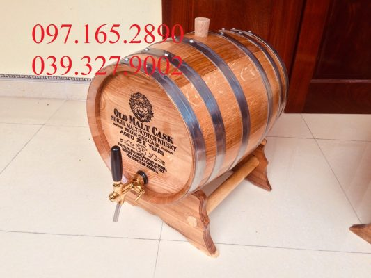 Thùng rượu gỗ sồi 30L