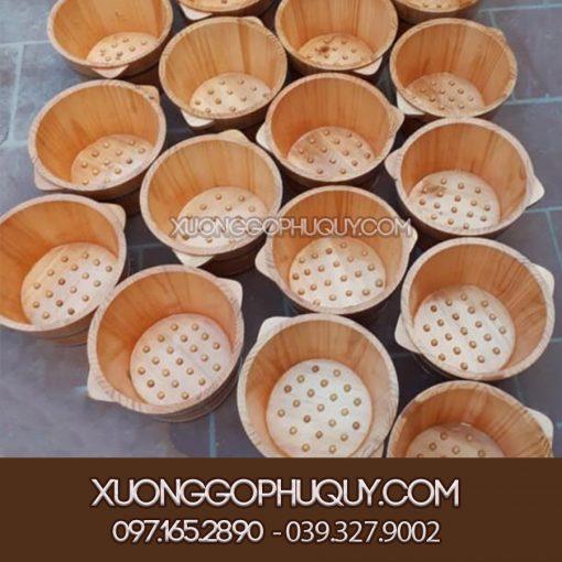 Chậu gỗ ngâm chân có hạt