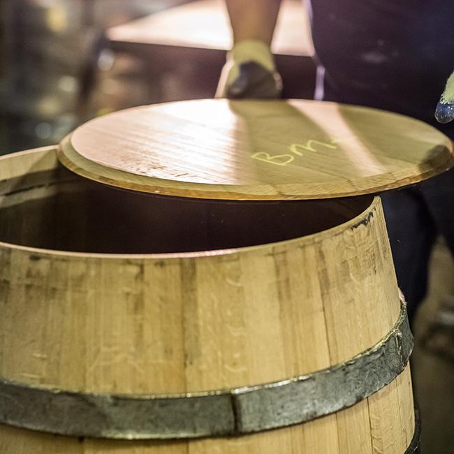 Thêm nắp thùng gỗ sồi