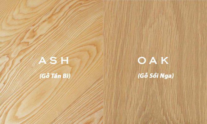 Phân biệt gỗ sồi Nga và gỗ Tần Bì