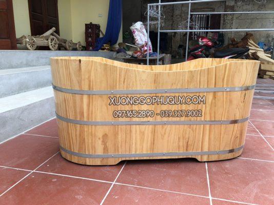 bồn tắm gỗ thông đẹp