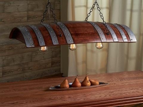 Thiết kế đèn bàn từ thùng gỗ sồi